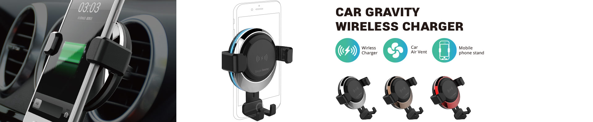 Car Charging Cup with DETACHABLE Wireless Charger