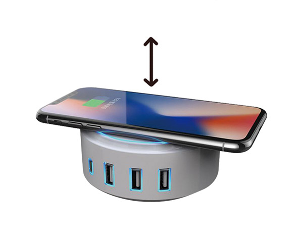 Small Wireless Charging Station with Nightlight