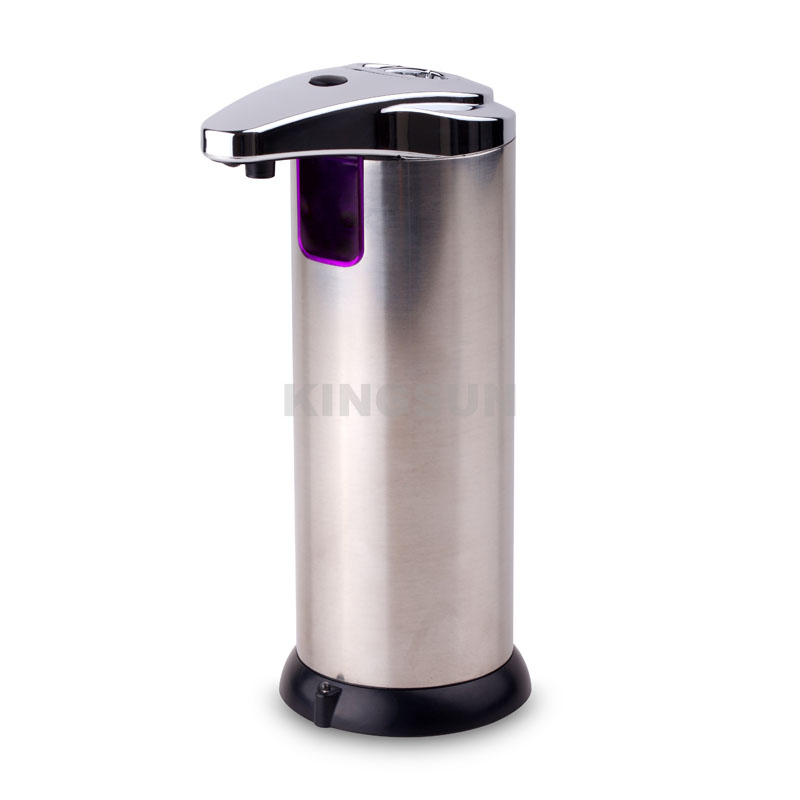 Motion sensor stainless steel liquid soap dispenser with waterproof base 220ml