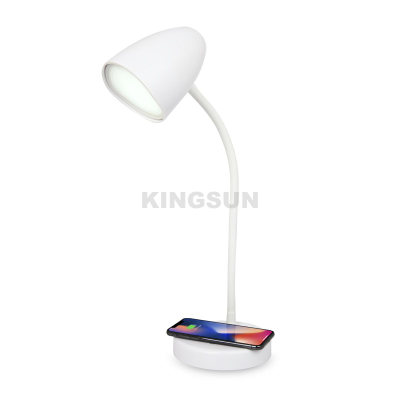 Household desk LED wireless charger lamp with 3 brightness