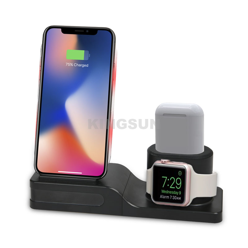 3 in 1 QI certified wireless charging station for phone and airpods