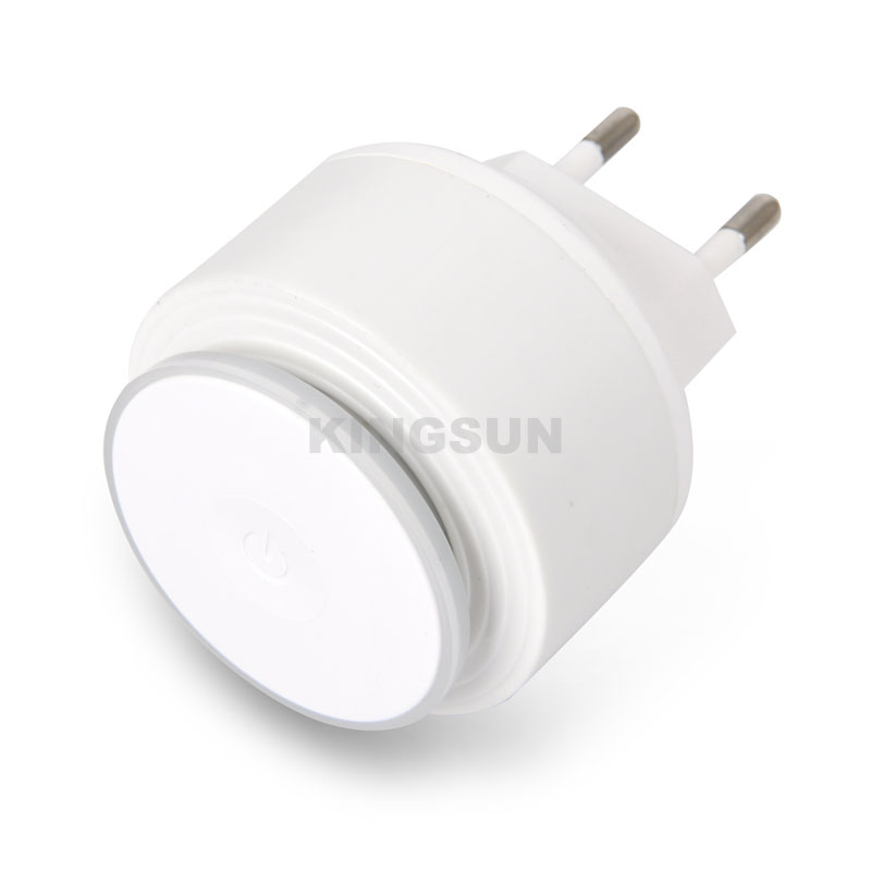 Infinite brightness touch control nightlight USB wall charger outlet  2.4A